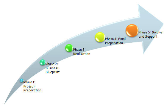 Sap the asap roadmap consists of five phases project preparation business blueprint realization final preparation go live and support continuous change malvernweather Image collections